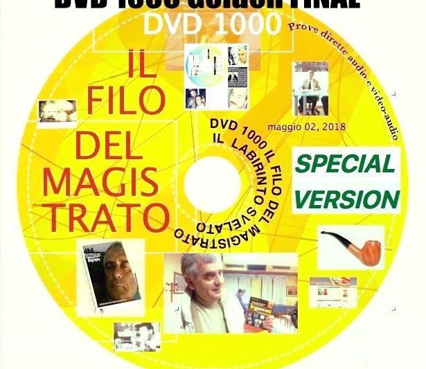 """DVD-ISO 1000-2  Special Golden FINALE  SCARICABILE DA TUTTI """"FREE""""  """"IL FILO DEL MAGISTRATO ED IL LABIRINTO SENZA PIU' SEGRETI"""" riscritta, aggiornata, compatibile con tutti i sistemi  pc"""